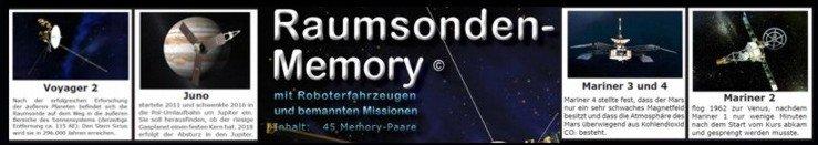 RAUMSONDEN-MEMORY in der SPIELE-BOX